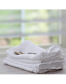 Linen Napkins Off White Set for 4 units