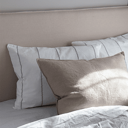 Gray Thebes Striped Cushion
