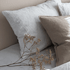 Calcutta Gray and White Striped Cushion