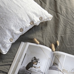 Genoa White Linen Cushion
