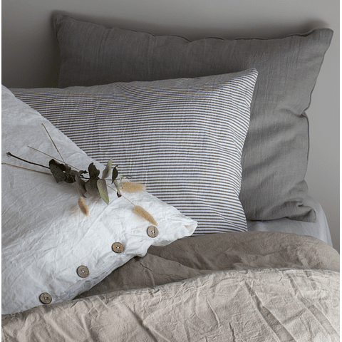 Portbou Cushion Gray Linen Smoke