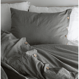 Pillow Case Set with Buttonhole and Olive Button