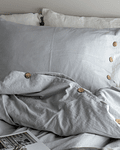 Pearl Gray Tussor Quilt Covers