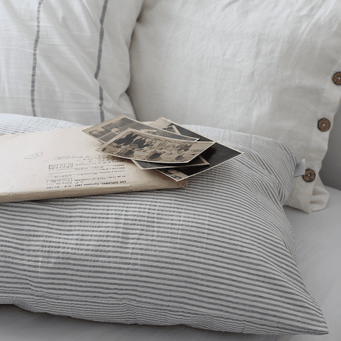 Gray Striped Sparta Cushion