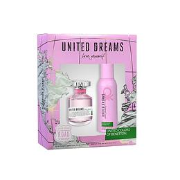 UNITED DREAMS LOVE YOURSELF ESTUCHE EDT 80ML + DESODORANTE 150ML