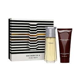 HERRERA FOR MEN ESTUCHE EDT 100ML + AF.SHAVE BALM 100ML
