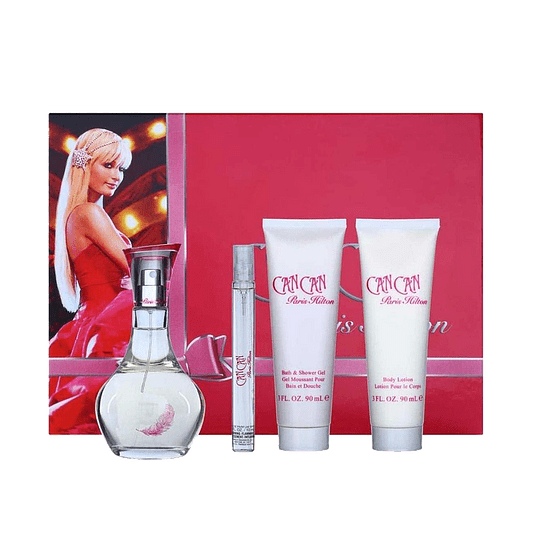 CAN CAN ESTUCHE EDP 100ML + MINI 10ML + LOCION 90ML + GEL 90ML