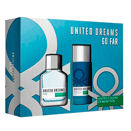 UNITED DREAMS GO FAR HOMBRE ESTUCHE EDT 100ML + DESODORANTE 150ML