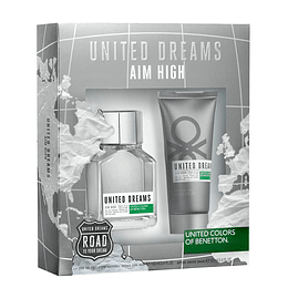UNITED DREAMS AIM HIGH ESTUCHE EDT 100ML + AF.SHAVE BALM 100ML