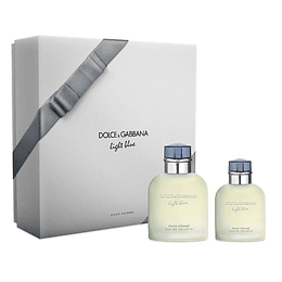 LIGHT BLUE HOMBRE ESTUCHE EDT 125ML + EDT 40ML