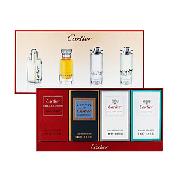 CARTIER MINI ESTUCHE DECLARATION EDT 4ML + L'ENVOL EDP 5ML + EAU EDP 5ML + EAU CONCENTREE EDP 5ML