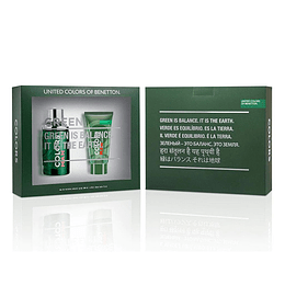 BENETTON COLORS GREEN HOMBRE ESTUCHE EDT 100ML+AF.SHAVE BALM 75ML