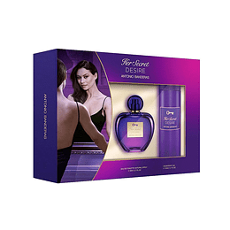 HER SECRET DESIRE ESTUCHE EDT 80ML+DESODORANTE 150ML