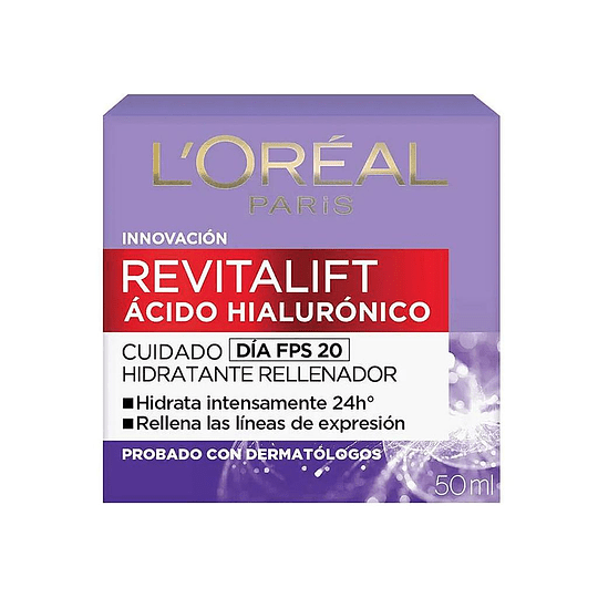 REVITALIFT ACIDO HIALURONICO CUIDADO DIA FPS 20, 50ML
