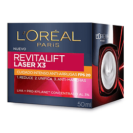 REVITALIFT LASER X3 CUIDADO INTENSO ANTI-ARRUGAS FPS20