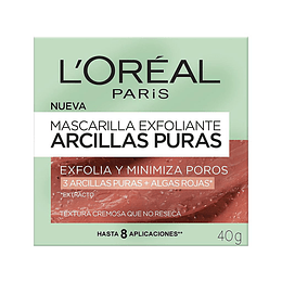 MASCARILLA EXFOLIANTE ARCILLAS PURAS 40G