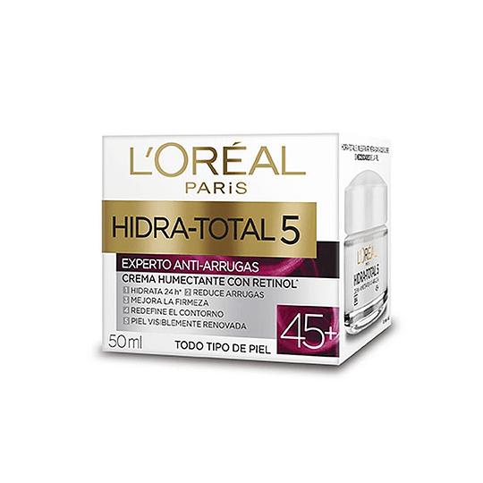 HIDRA TOTAL 5 EXPERTO ANTI-ARRUGAS +45, 50ML