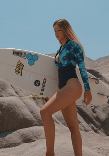 Body Surf corte Cinturón Palmeras