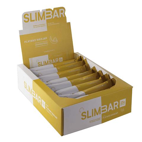 Barra Slimbar Plátano Manjar 60gr.