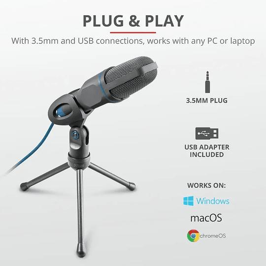 Micrófono Condensador Gamer Trust Gxt 212 Mico Negro - Image 4