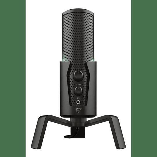 Micrófono  Cardioide Trust Fyru Gxt 258 Usb 4 En 1 Para Streaming