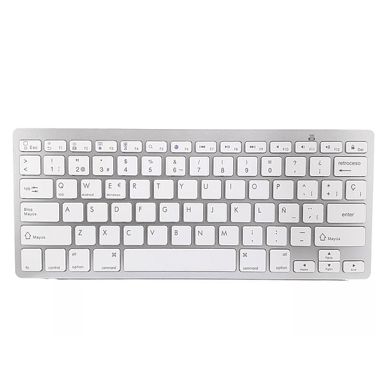 Teclado Bluetooth Tipo Mac Blanco  - Image 1