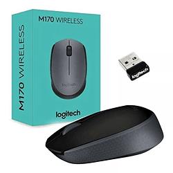 Mouse Logitech Inalambrico M170 Negro 3 Botones