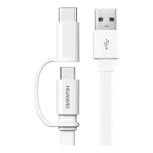 Cable 2 En 1 Huawei Micro Usb + Tipo C Original