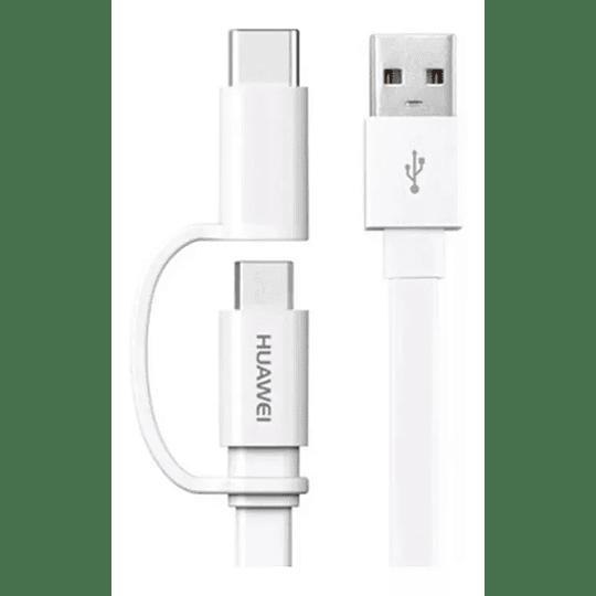 Cable 2 En 1 Huawei Micro Usb + Tipo C Original - Image 1