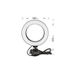 Anillo Aro luz Led Ajustable 16cm + 2 mini tripode