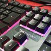 Teclado gamer con sensacion mecanica retroiluminado Tecmaster