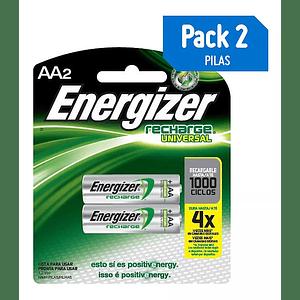 Pilas Recargables Energizer Tamaño AA