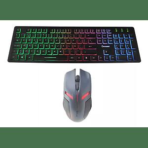 Kit Gamer -- Teclado Retroiluminado Gamer + Mouse 6 Botones