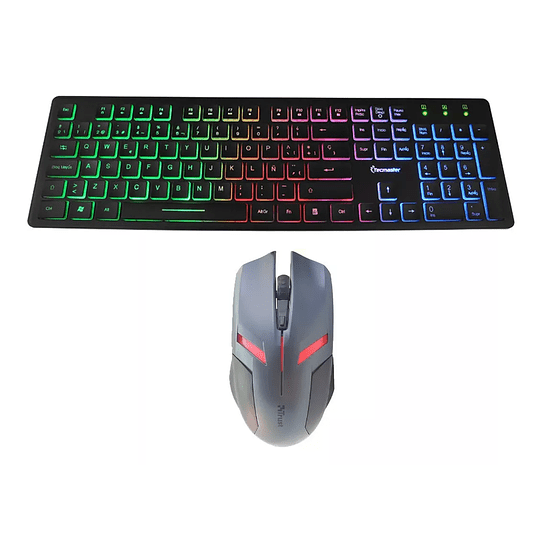 Kit Gamer -- Teclado Retroiluminado Gamer + Mouse 6 Botones