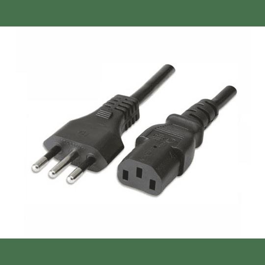 Cable Fuente De Poder Multiples Usos 1.8mts Cobre C13