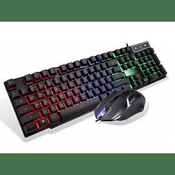Kit Combo Gamer Teclado Memb + Mouse Economico Retroiluminad