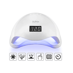 Lampara Led/uv Uñas Sunuv Sun5 48 Watts