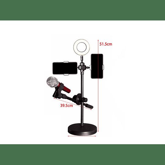 Kit Youtuber Atril Luz Led + Porta Microfono Y Porta Celular  - Image 2