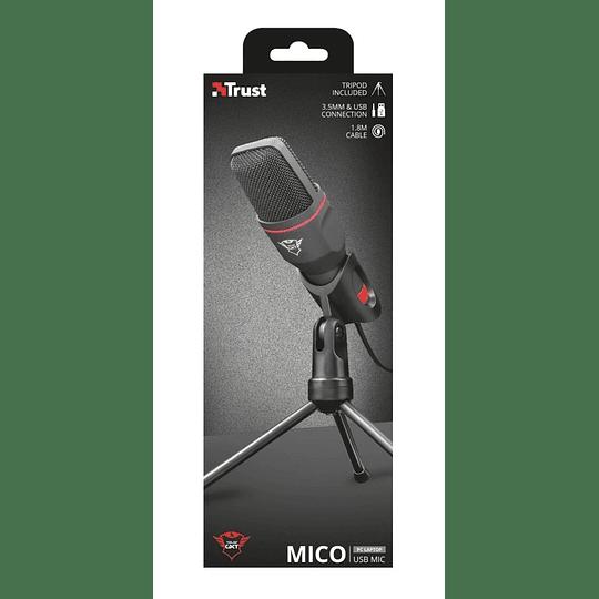Micrófono Condensador Gamer Trust Gxt 212 Mico Negro - Image 2