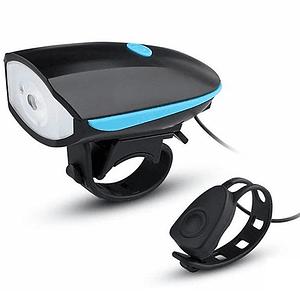 Linterna 250 Lúmens Y Bocina 140db Usb Recargable Para Bicicleta