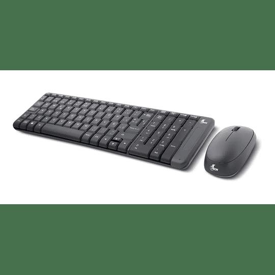 Kit Combo Teclado Mouse Inalambrico Xtech Compacto Español