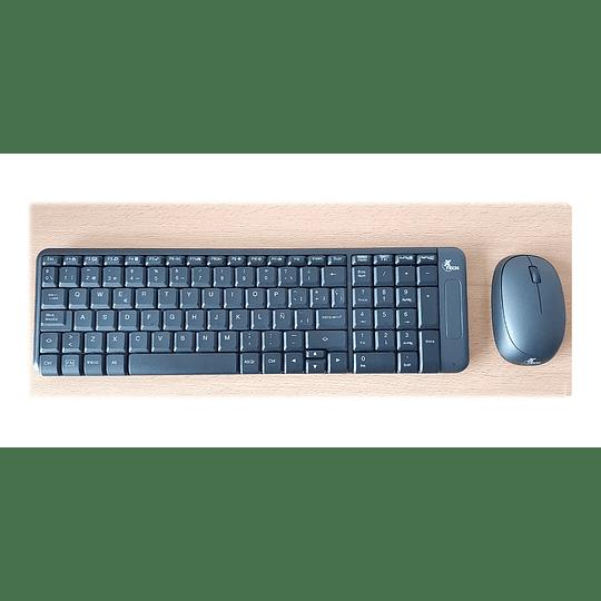 Kit Combo Teclado Mouse Inalambrico Xtech Compacto Español - Image 3