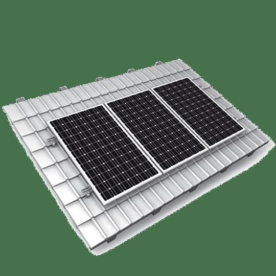 Estrutura Telhado Inclinado para 8 módulo