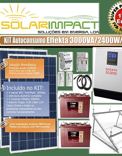 KIT Autoconsumo Effekta 3000VA 2400W/24V