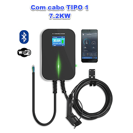 WALLBOX LCD 7.2KW MONO COM CABO TIPO 1