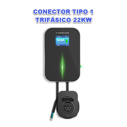 WALLBOX LCD 22KW TRIFASICO TOMADA TIPO 1