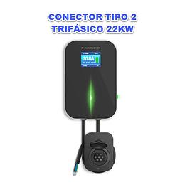 WALLBOX LCD 22KW TRIFASICO TOMADA TIPO 2
