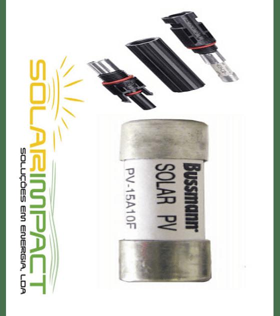 Conectores MC4 com Fusível