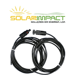 Par de cabos solar 5+5m com conectores MC4