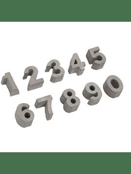 Números Deco Hormigón